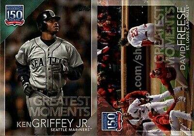 2019 Topps Series 2 150 Years Of Baseball Greatest Moments Insert Singles - Pick