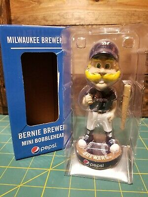 2019 Pepsi Bernie Brewer Milwaukee Brewers Mini Bobblehead NIB PROMO EXCLUSIVE
