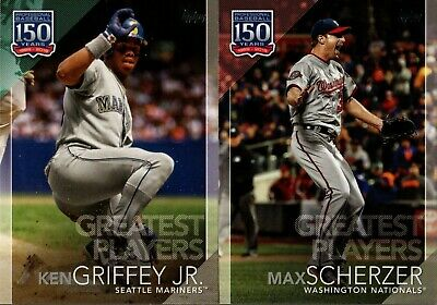 2019 Topps Series 2 150 Years Of Baseball Greatest Players Insert Singles - Pick