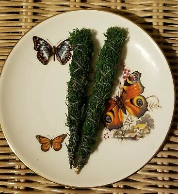 "Two Cedar Sage Smudge Sticks  6"" House Cleansing, Negativity removal, Ceremonial"