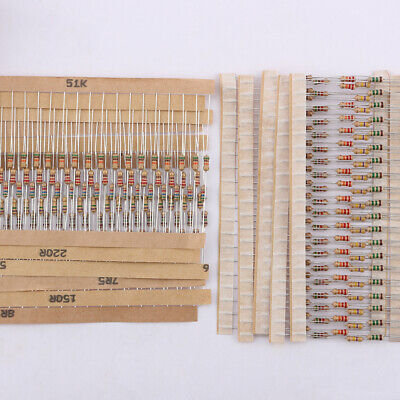 Carbon Film 75Values Resistor Assorted kit 1500pcs Set 1/4W (1 ohm ~ 10M ohm) 5%