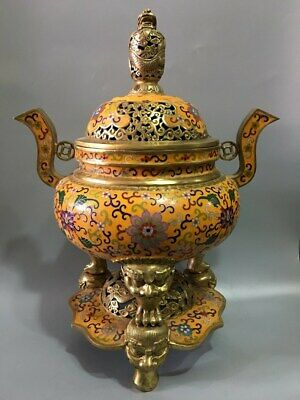 Chinese antiques Rare Brass hand made MING XUANDE Unicorn Incense Burner
