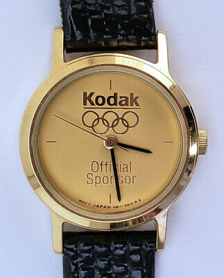 Women's Round Olympic Official Sponsor 1992 23mm Gold 7½ Strap Clean Thick Hands