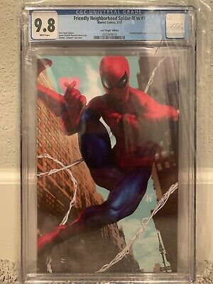 Friendly Neighborhood Spider-Man 1 - Artgerm  Virgin Variant 1:100 - CGC 9.8!!!