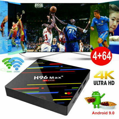 H96MAX+ Android 9.0 Pie 4+64G Quad Core 4K Smart TV BOX DUAL WIFI BT 4.0 USB 3.0