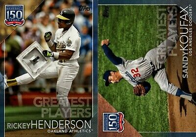 2019 Topps Series 2 150 Years Of Baseball Greatest Players Blue Insert  You Pick