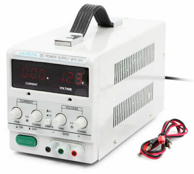 Lavolta BPS305 Variable Linear Adjustable Lab DC Bench Power Supply 0-30V 0-5A