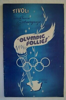 Olympic Games Collectable 1956 Melbourne Vintage Booklet Tivoli Olympic Follies