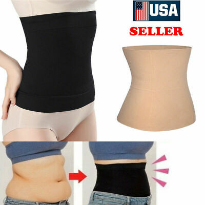 Women Fat Burner Sauna Tummy Tuck Belt Body Shaper Girdle For Belly Slimming Hot