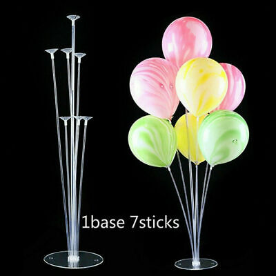 2Pcs Balloon Accessory 1 Set 70cm Base Table Support Holder Cup Stick Stand Deco