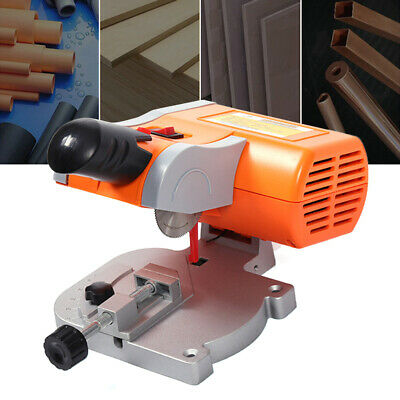 "Mini Bench Top Cut-Off Saw Set 45° Miter 2"" Blade for Metal Wood Cutting 110V UK"