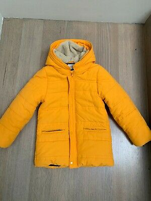SEED Boy or Girl Puffer Jacket Yellow PERFECT CONDITION Size 8-9