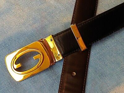 BELT cintura doubleface vintage 70's GUCCI tg. S  circa made in Italy RARE