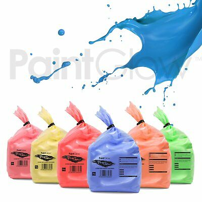 PaintGlow Neon UV Paint Party Powder (6 Pack) Free UPS Next Day Delivery UKonly
