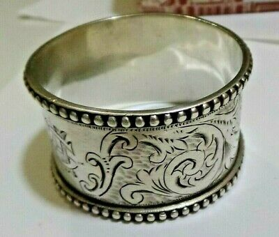 Antique Australian Sterling Silver Napkin Ring - Stokes and Sons - 19th Century