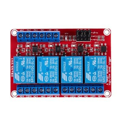 3X(5V High / Low Level With Trigger Opto-isolator 4 channels Power relay mo F7A8