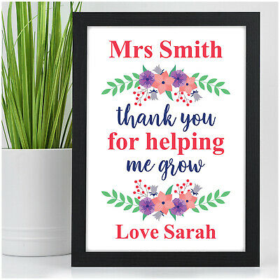 PERSONALISED Female Teacher Assistant Childminder Nursery End of Term Gifts