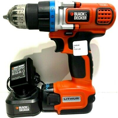 Black & Decker EGBL108-xe drill driver with lithium 10.8V bat + charger (B46648)