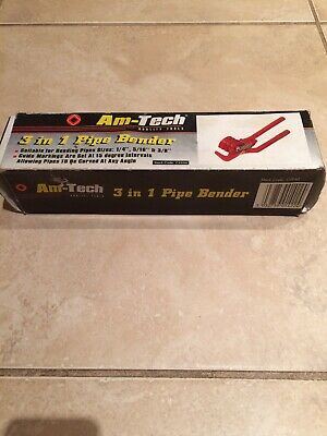 "3 In 1 Pipe Bender Bends 1/4"" 5/16"" 3/8"" Tubing Aluminium Alloy - Am-Tech C2950"