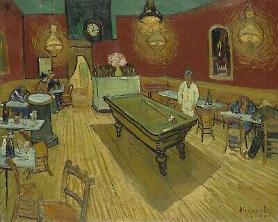 The Night Cafe, 1888 by Vincent Van Gogh - Van-Go Paint-By-Number Kit