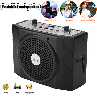 Portable Bluetooth Waistband Voice Loud Amplifier Loudspeaker Speaker Microphone
