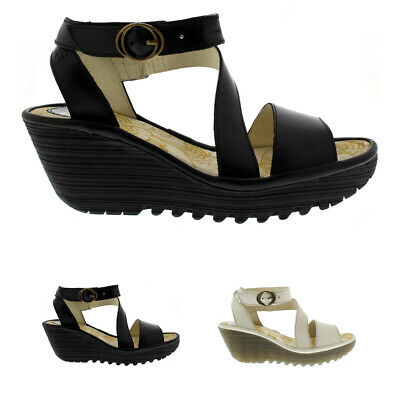 2406dbc84b Ladies Fly London Yesk Rug Cut Out Strappy Holiday Summer Wedge Sandal All  Sizes