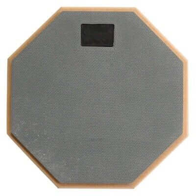 1X(8 inch Soft Gray Dumb Drum Pad Exercise Mat Blow Plate Drummer Wood+rubb G6F2