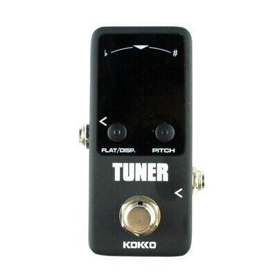 1X(KOKKO Guitar Mini Effects Pedal Tuner - Chromatic Tuner Pedal High Defin Y3T1