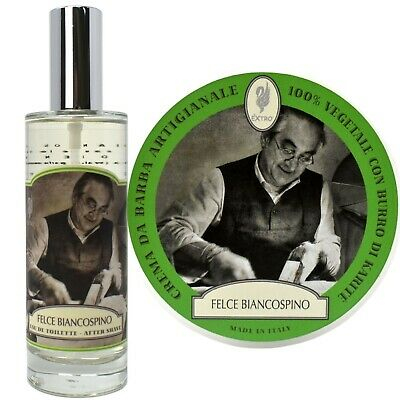 Extro Cosmesi Felce Biancospino Shaving Cream 150ml & EDT Aftershave 125ml Set