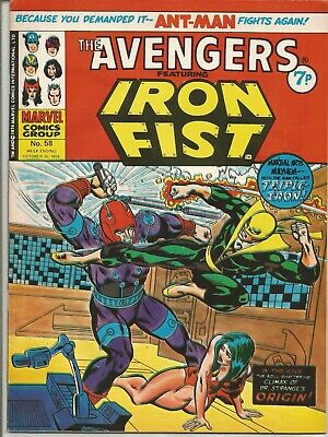 The Avengers #58 : Vintage Marvel comic from October 1974