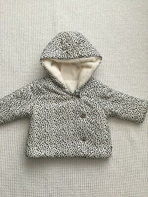Next Baby Girls 3-6 Months Jacket Soft Fleece Lined Combined Postage