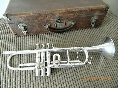 Besson & Co Class A Prototype Trumpet Approximately 1920s with original case