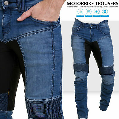 Mens Motorcycle Pants Motorbike Stretch Panel Aramid Protection Lining Trousers