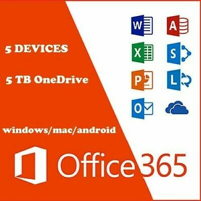MICROSOFT OFFICE 365 PRO PLUS ACCOUNT Lifetime 5 Devices | 5TB | PC |Mac |Mobil