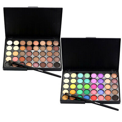 Popfeel Brand 40 Colors Mini Eye Shadow Plate Cosmetic Matte Eyeshadow + Brush