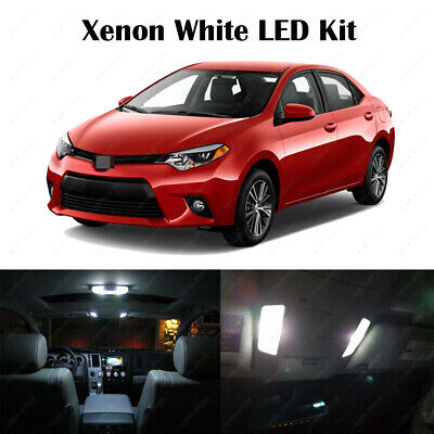 Fog 10x Ultra White Reverse Interior LED Lights for 2015 2016 Toyota Corolla