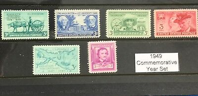 1949 US Commemorative Year Set (Complete) #981-986 MNH  FREE SHIPPING