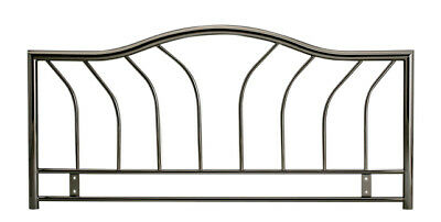 4ft6 Double Metal Headboard for Bed in smoked chrome finish BRAND NEW