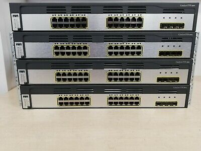 LOT 3 CISCO Catalyst 3750-X Series 24-Port Gigabit Ethernet Poe+ Ws