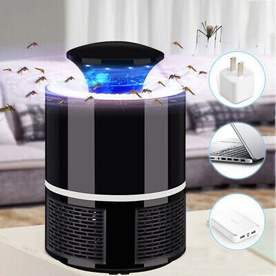 Electric Mosquito Killer Lamp Home LED Bug Zapper Insect Trap Anti With Adap TPD