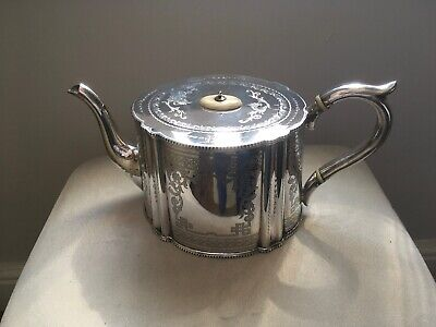 Philip Ashberry & Sons Of Sheffield Silver Plated Teapot