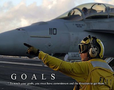 US Military Motivational Poster Art Navy Air Force Jets Soldier Academy  MILT49