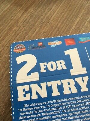 Discount Voucher. 2 For 1 Entry At Alton Towers Legoland Thorpe Park And MORE