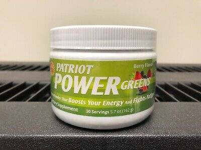 Patriot Health Alliance Power Greens Berry Flavor 5.7 oz - New! 30 Servings