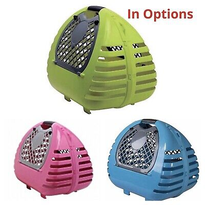 Large Cat Carrier / Small Dog Pet Transporter Carry Cage Box For Safe Vet Travel