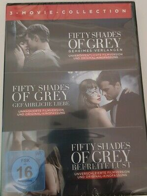 Fifty Shades of Grey 1+2+3 ( 3-DVD-BOX ) NEU