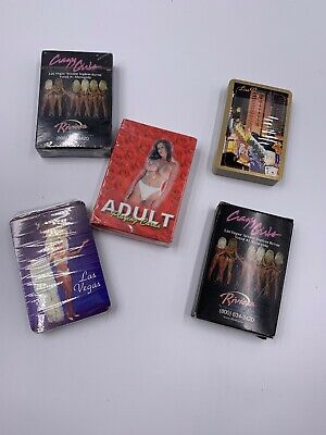 Collection of 5 Decks- 1 Adult Nude Playing Cards Unopened- 4 Las Vegas 1 Open