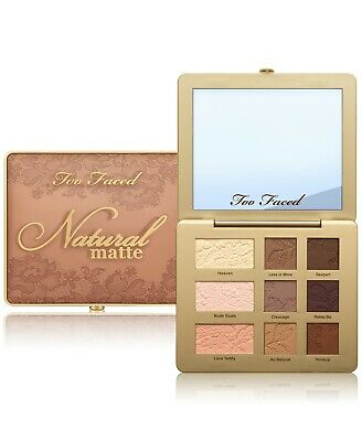 NIB Too Faced Natural Matte Eyeshadow Palette NINE shadows Nudes Airbrush effect