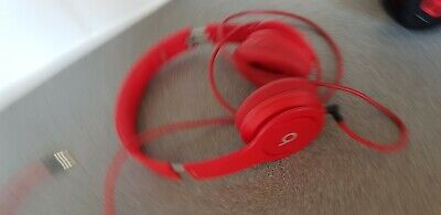 Beats by Dr. Dre Solo HD Headband Headphones - Red (with case). Excellent condit