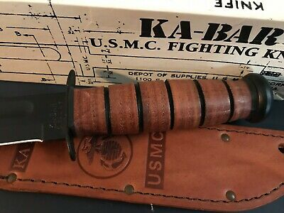 KA-BAR US Marine Corps Fighting Knife, Straight #1217 New/Box